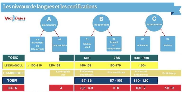 Echelle niveau de langues CECRL