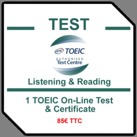 TOEIC TEST à Tours