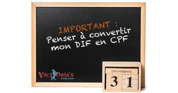 Pensez à convertie vos heures de DIF en CPF