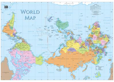Carte du Monde australienne