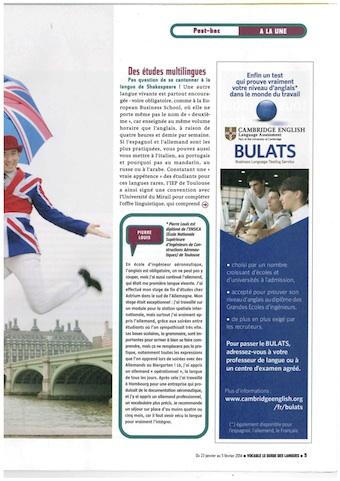 Publicité BULATS dans Vocable - Février 2014