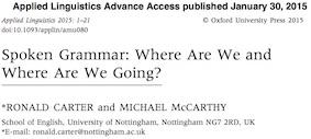 Grammaire orale de l'anglais McCarthy