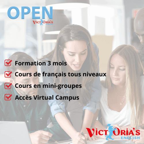 OPEN Cours de Français FLE  (petits groupes blended, 3 mois) - Cours de français FLE