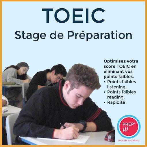 Cours de préparation TOEIC